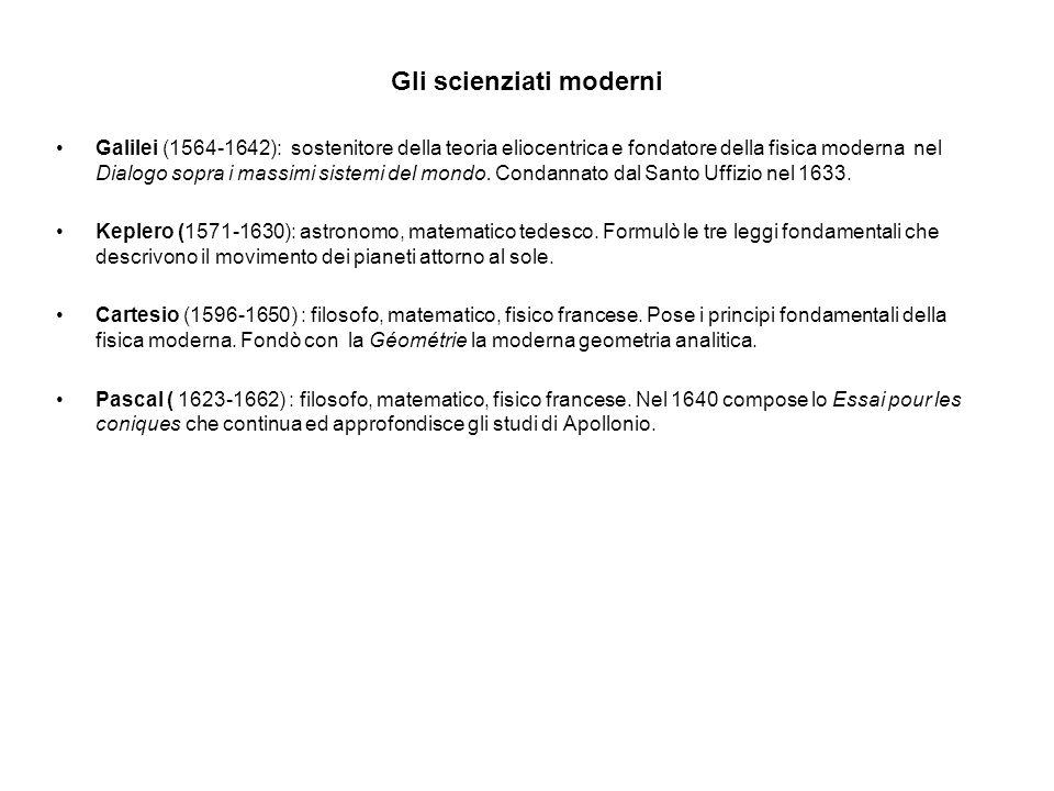 Gli scienziati moderni Galilei (1564-1642): sostenitore della teoria eliocentrica e fondatore della fisica moderna nel Dialogo sopra i massimi sistemi del mondo.
