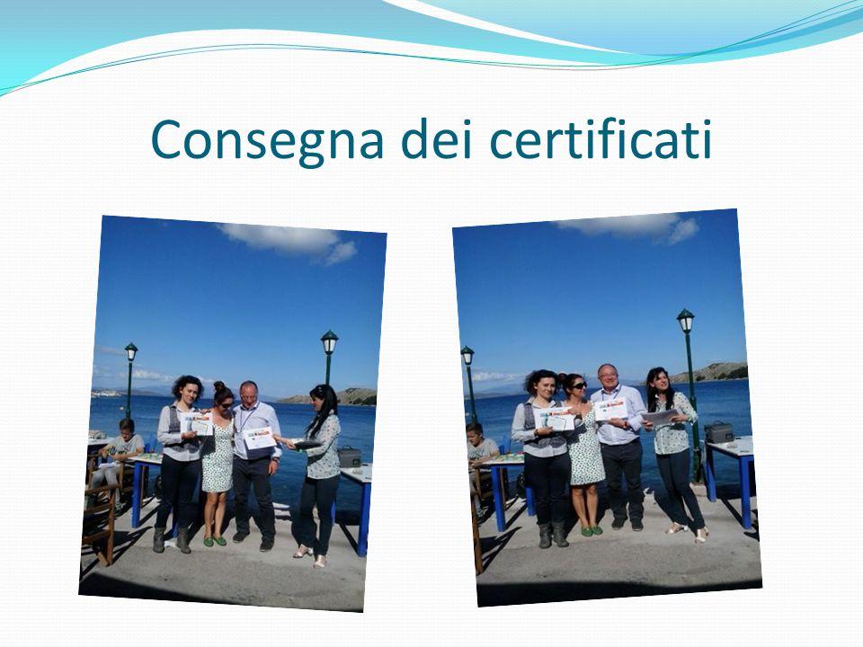 Consegna dei certificati