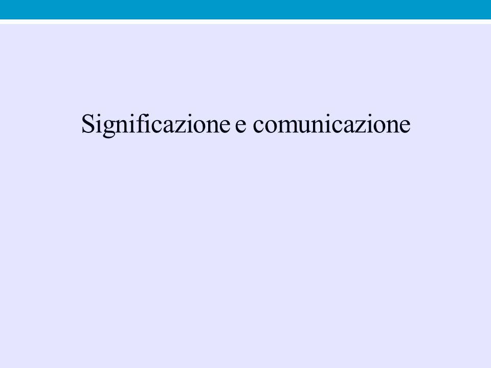 Significazione e comunicazione