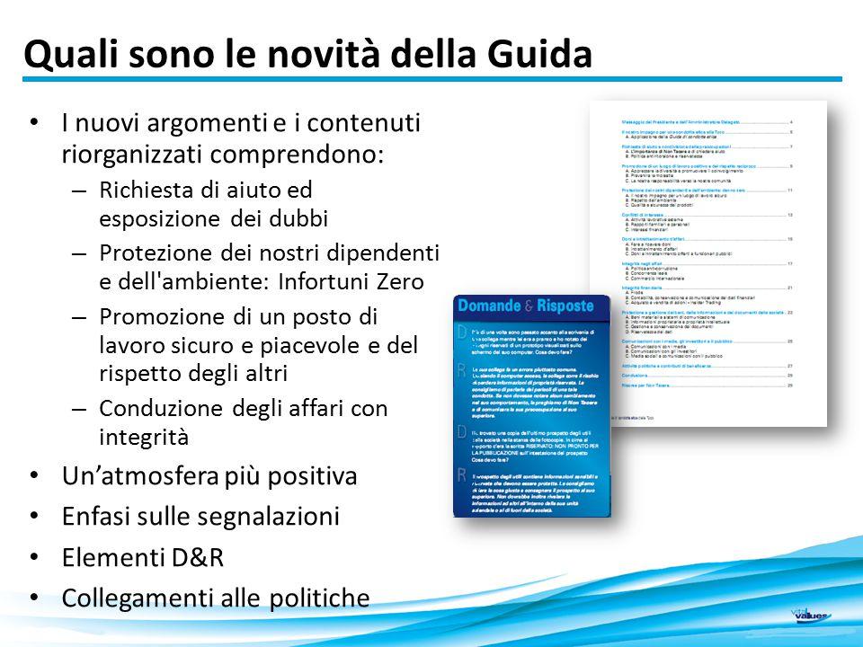 Quali sono le novità della Guida I nuovi argomenti e i contenuti riorganizzati comprendono: – Richiesta di aiuto ed esposizione dei dubbi – Protezione