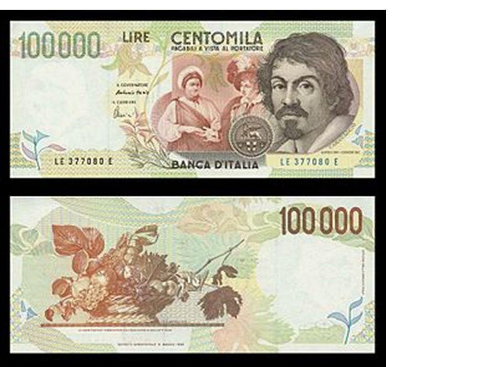 Il cesto di frutta è stato raffigurato sulla banconota da 1oo.ooo lire dal 1994 al 1998 in Italia