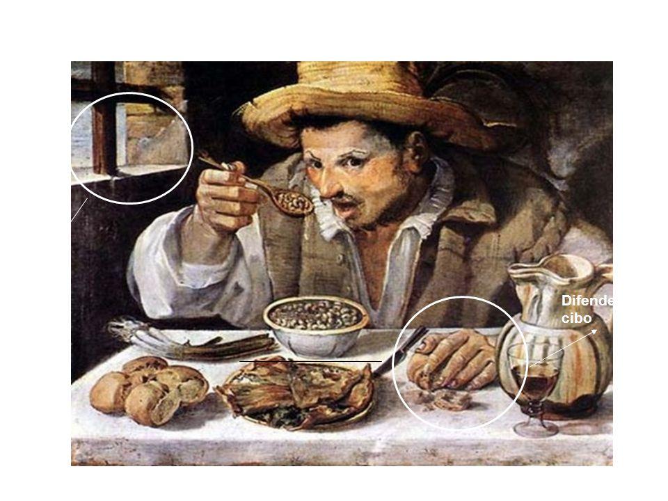 Il mangiatore di fagioli Carracci 1584 terreni pesanti, vapori, Nebbie e fatica. Difende il suo cibo
