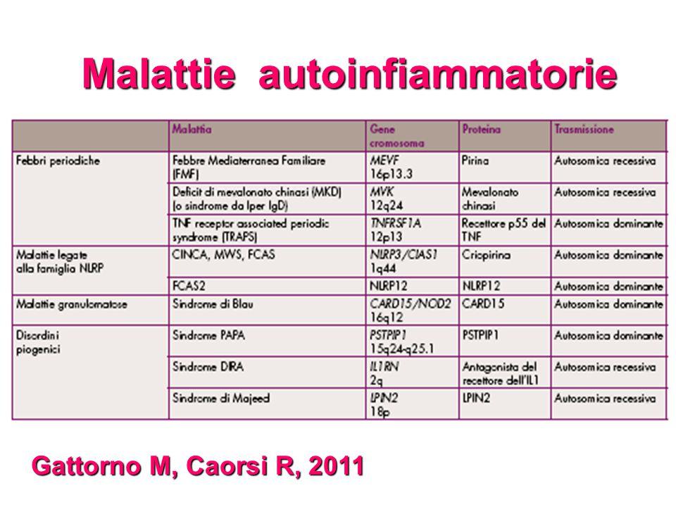 Malattie autoinfiammatorie Gattorno M, Caorsi R, 2011