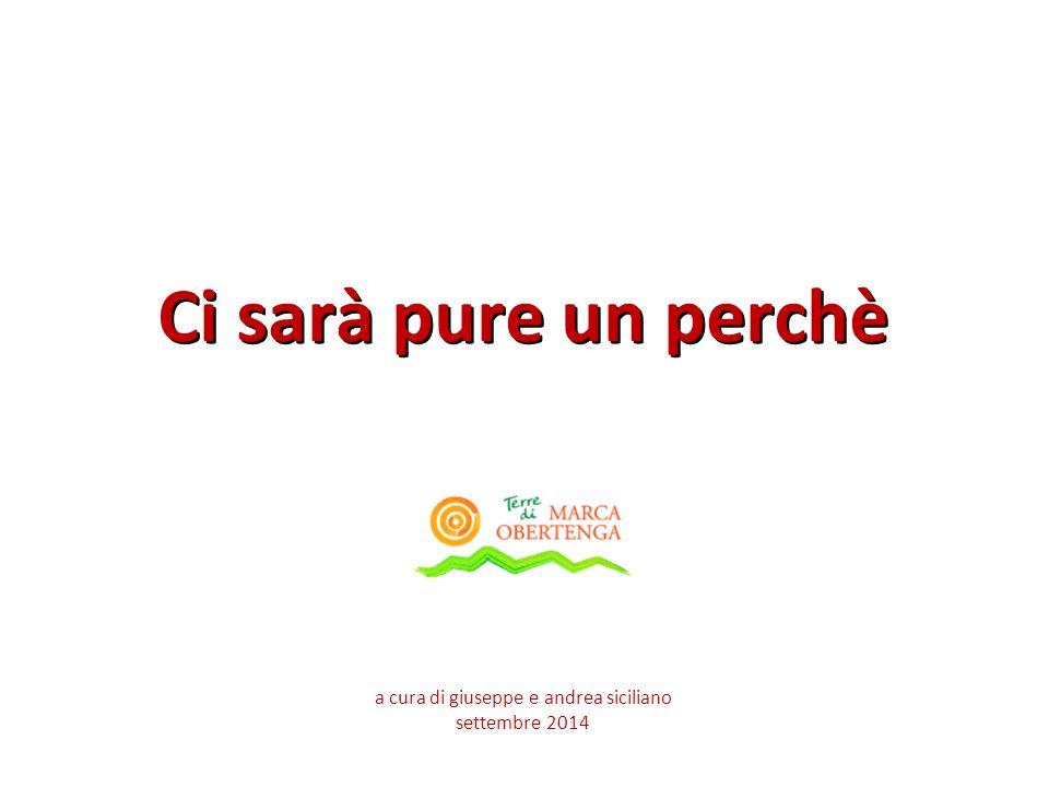Ci sarà pure un perchè a cura di giuseppe e andrea siciliano settembre 2014