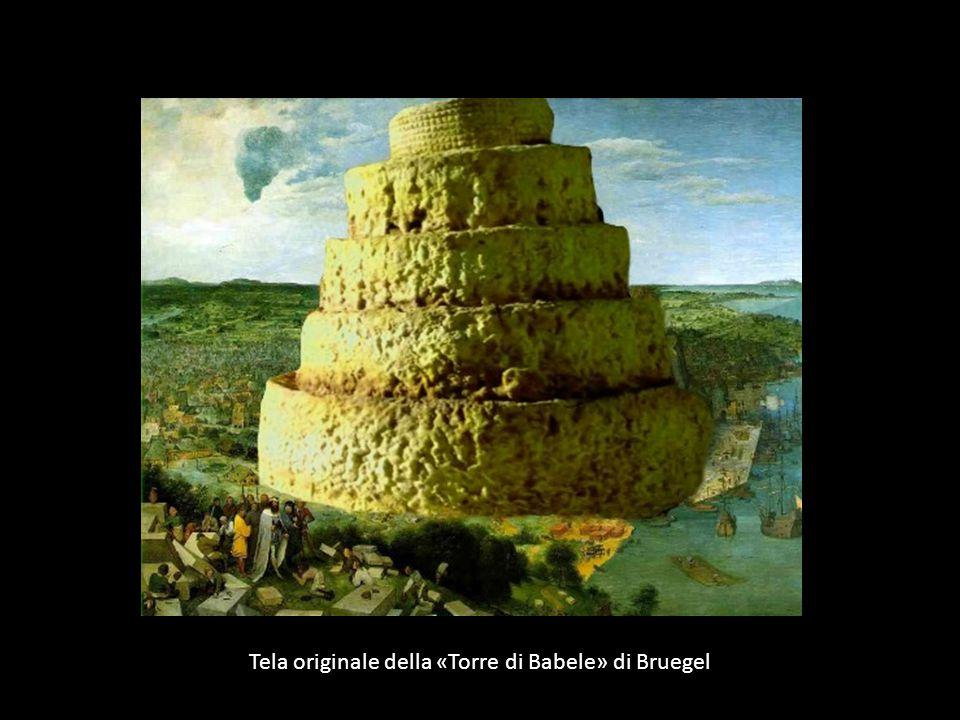 Tela originale della «Torre di Babele» di Bruegel