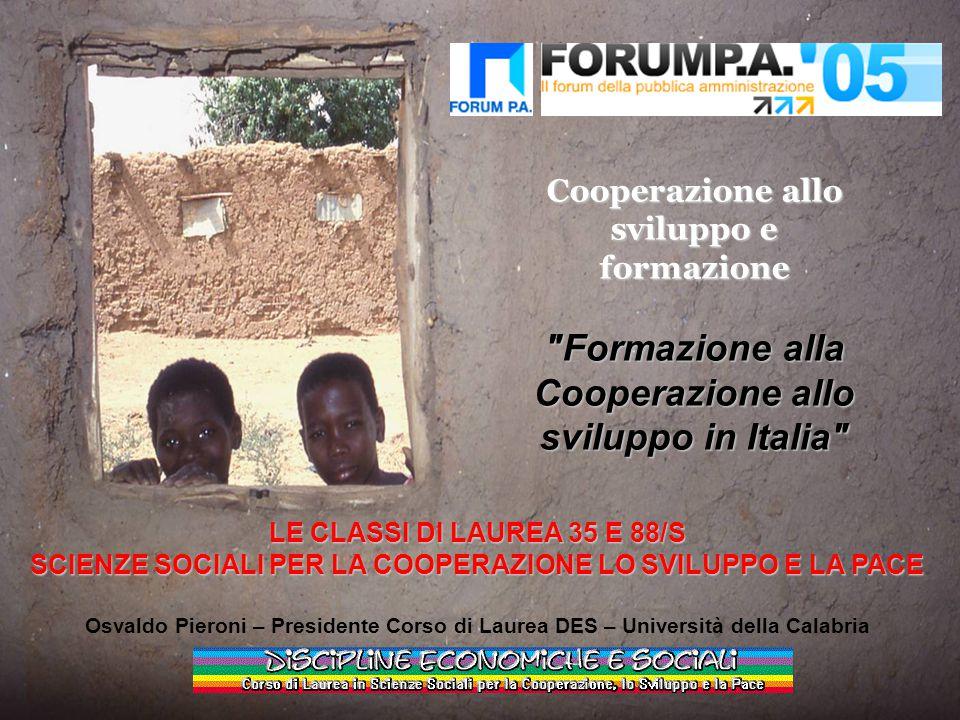 Cooperazione allo sviluppo e formazione