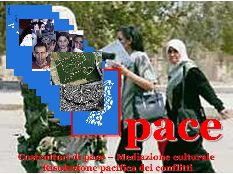 pace pace Costruttori di pace – Mediazione culturale Risoluzione pacifica dei conflitti
