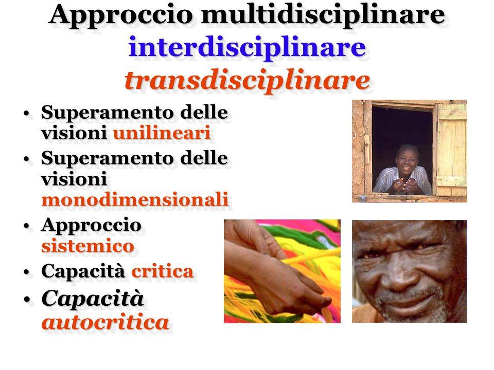 Approccio multidisciplinare interdisciplinare transdisciplinare Approccio multidisciplinare interdisciplinare transdisciplinare Superamento delle visi