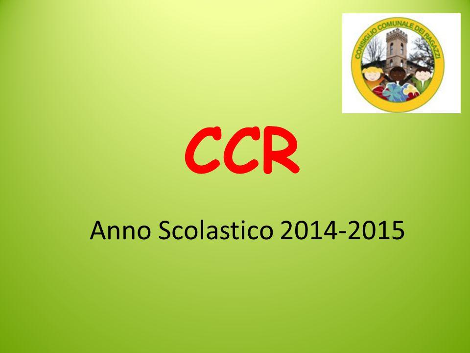 CCR Anno Scolastico 2014-2015