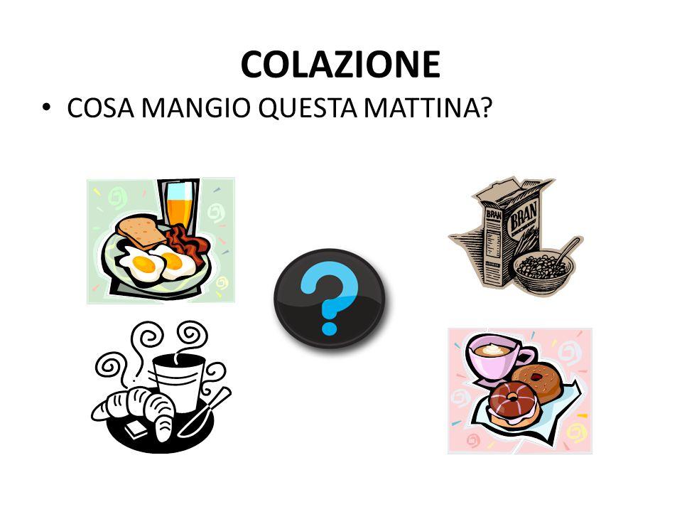COLAZIONE COSA MANGIO QUESTA MATTINA?