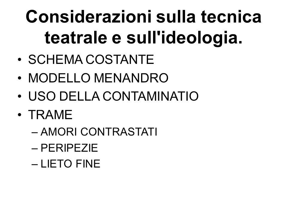 Considerazioni sulla tecnica teatrale e sull ideologia.