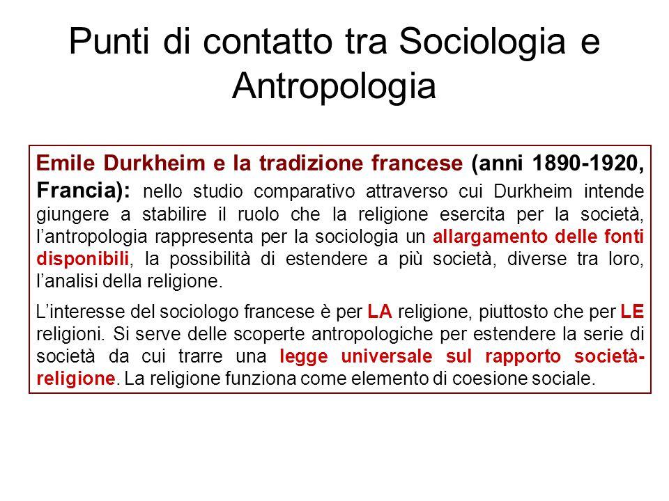 Emile Durkheim e la tradizione francese (anni 1890-1920, Francia): nello studio comparativo attraverso cui Durkheim intende giungere a stabilire il ru