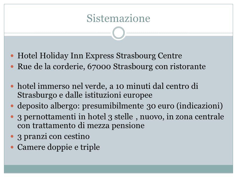 Contatti Indirizzo e recapito hotel: +33 3 88 10 99 99 Chiamata a un cellulare italiano in Francia: 0039 + numero cellulare (indicazioni pagamento telefonata) Silvia Biasotto della Voyager World 041 5950687; silvia@voyagerworld.it