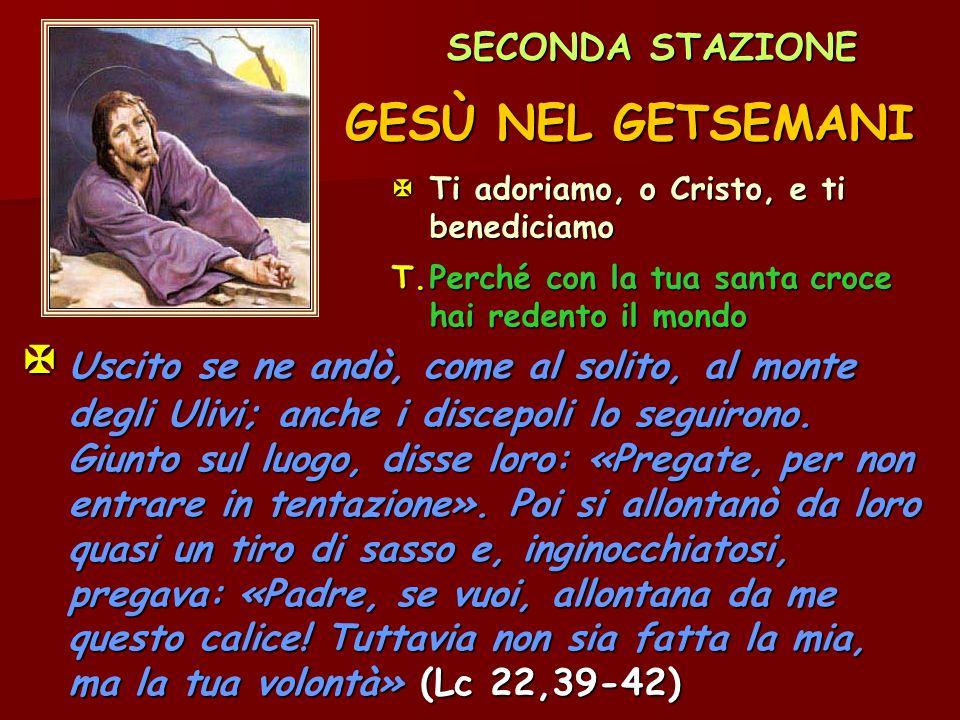 G.Nell orto degli ulivi Gesù si mette a pregare.