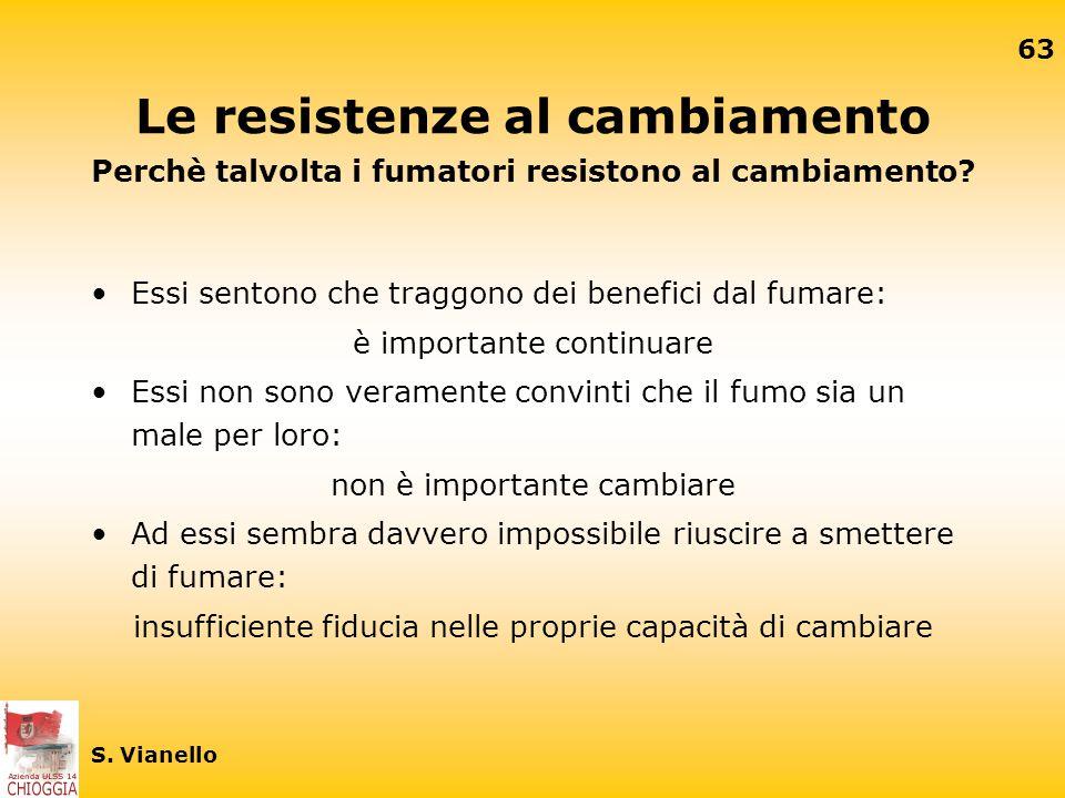 62 S. Vianello Due concetti importanti per il cambiamento l'autoefficacia (self-efficacy) la fiducia in sè stessi (self-confidence)