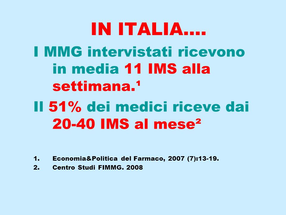 IN ITALIA….