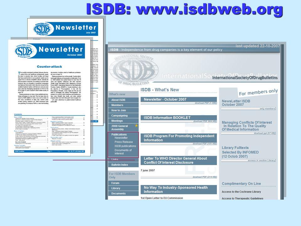 ISDB: www.isdbweb.org ISDB: www.isdbweb.org