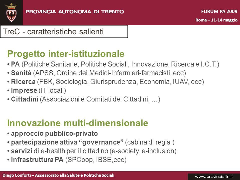 FORUM PA 2009 Roma – 11-14 maggio Diego Conforti – Assessorato alla Salute e Politiche Sociali Innovazione multi-dimensionale approccio pubblico-priva