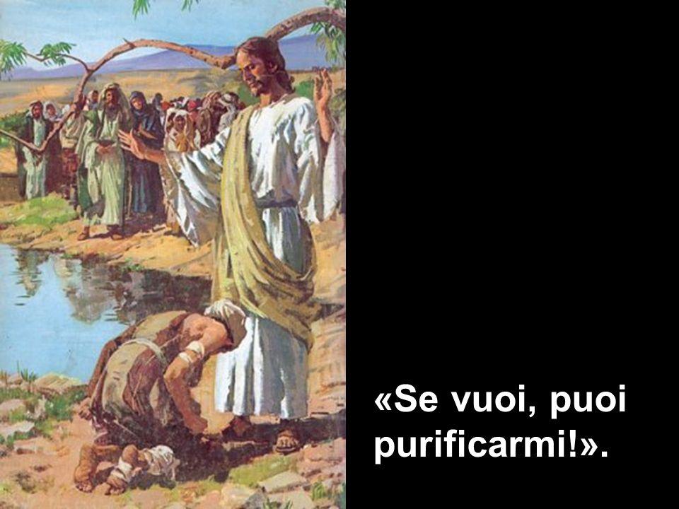 «Se vuoi, puoi purificarmi!».