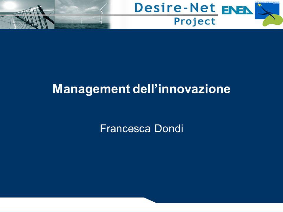 Management dell'innovazione Francesca Dondi