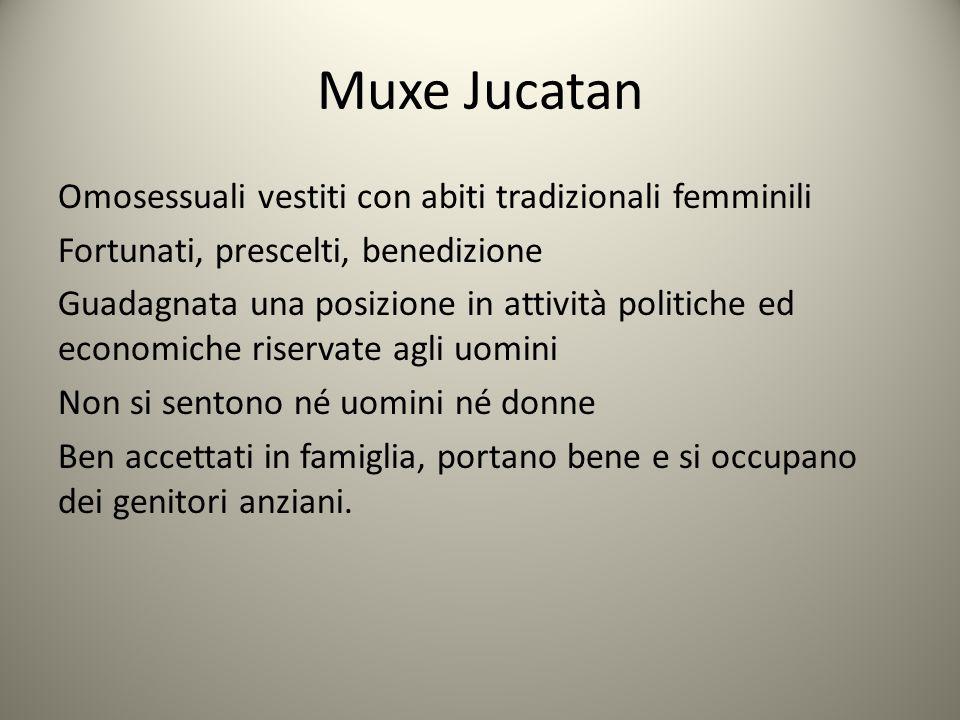 Muxe Jucatan Omosessuali vestiti con abiti tradizionali femminili Fortunati, prescelti, benedizione Guadagnata una posizione in attività politiche ed