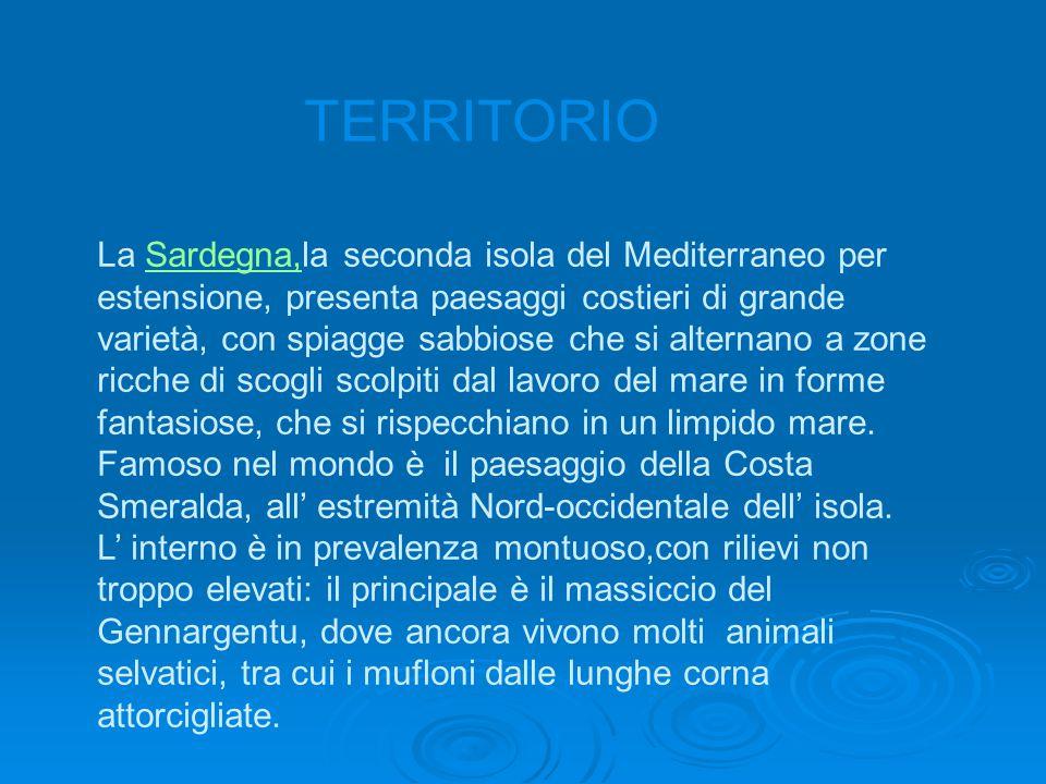 La Sardegna,la seconda isola del Mediterraneo per estensione, presenta paesaggi costieri di grande varietà, con spiagge sabbiose che si alternano a zone ricche di scogli scolpiti dal lavoro del mare in forme fantasiose, che si rispecchiano in un limpido mare.