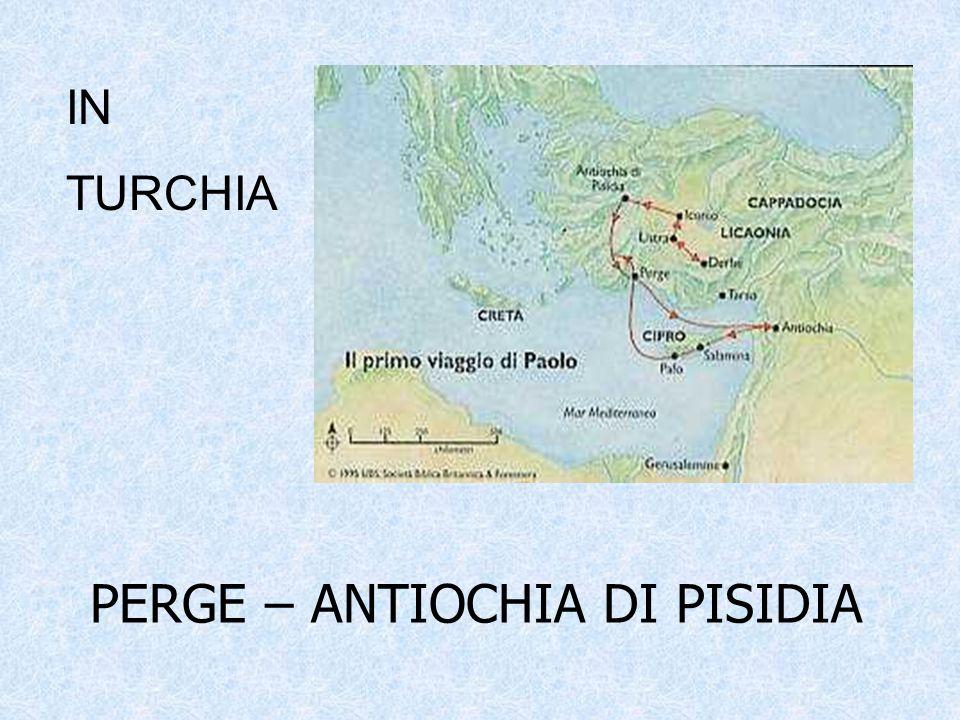 Salpati da Pafo, raggiungono l'Asia Minore sbarcando a Perge in Panfilia.