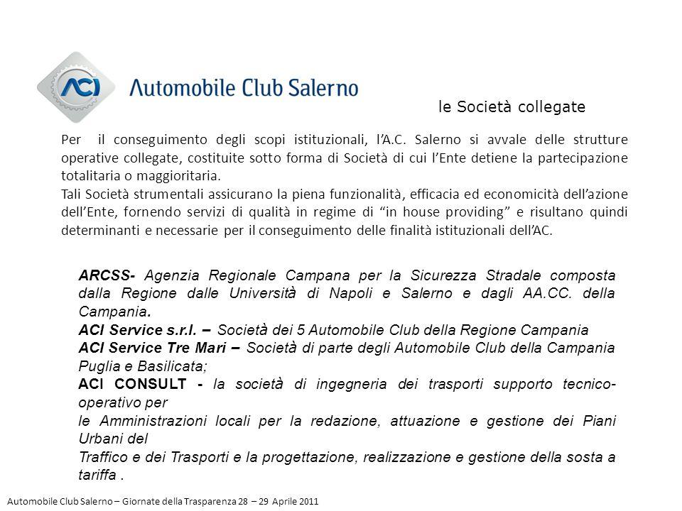 le Società collegate Per il conseguimento degli scopi istituzionali, l'A.C. Salerno si avvale delle strutture operative collegate, costituite sotto fo