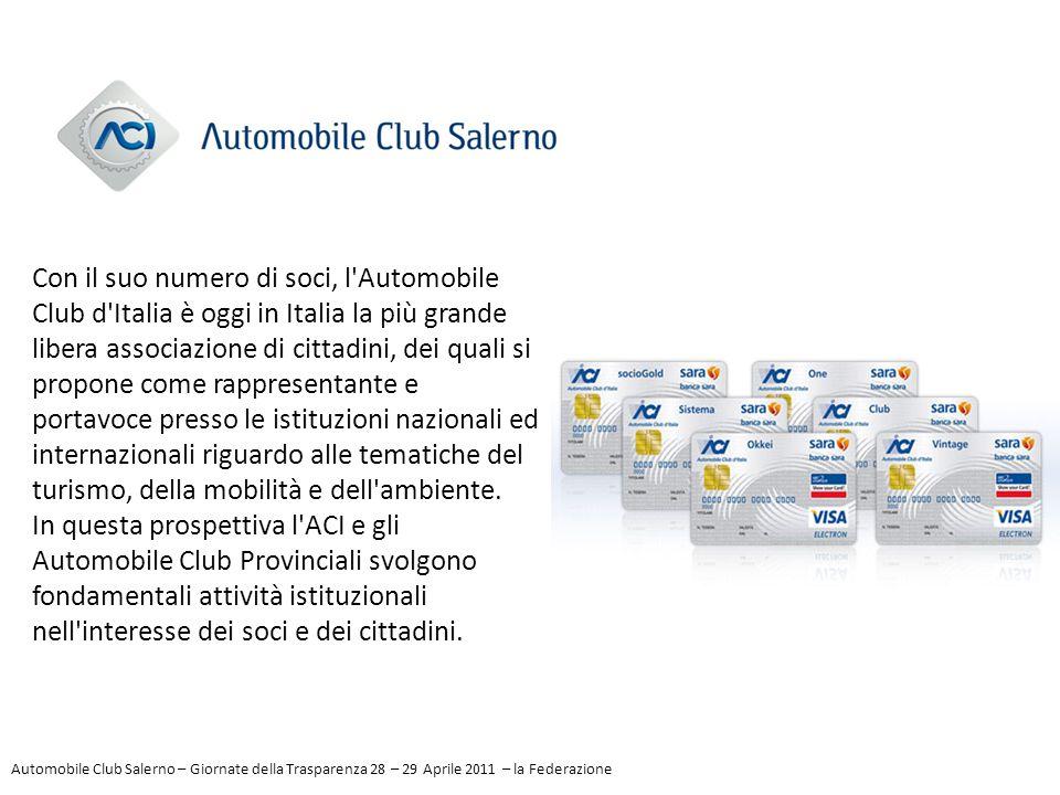 Con il suo numero di soci, l'Automobile Club d'Italia è oggi in Italia la più grande libera associazione di cittadini, dei quali si propone come rappr