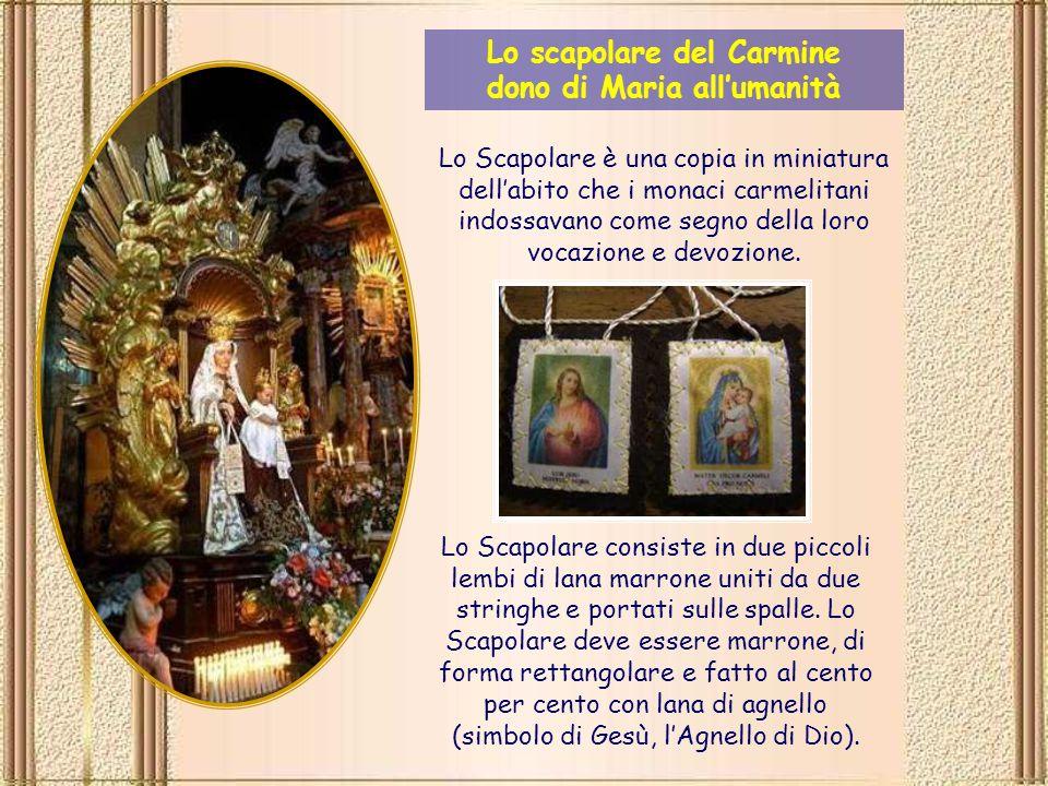 Questa grande ulteriore promessa relativa allo Scapolare è chiamata Privilegio Sabatino (del Sabato) e si basa sul decreto emesso dal Papa Giovanni XXII nel 1322, decreto confermato quattrocento anni più tardi da Papa Paolo V.