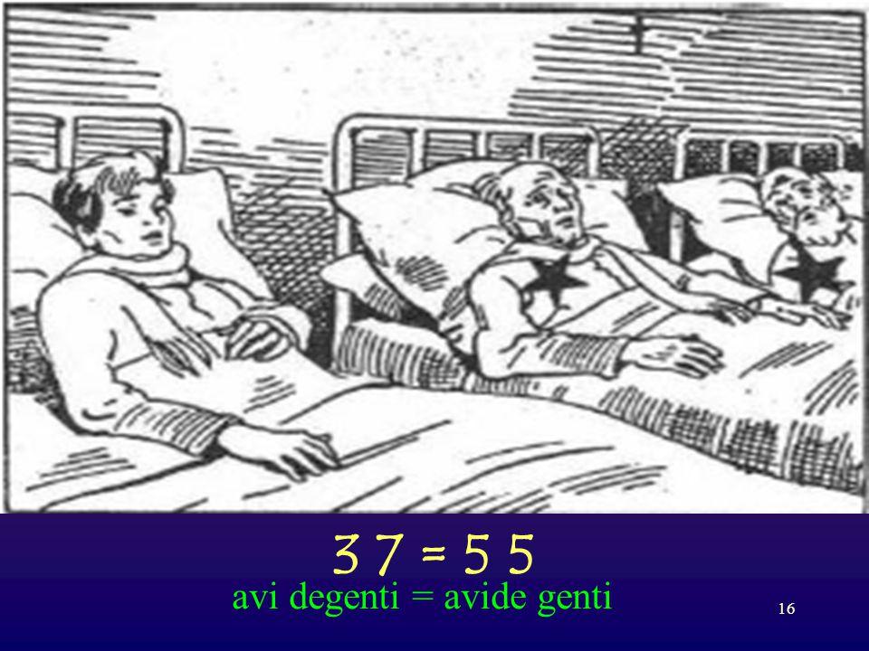 15 1 4 4 1; 4 1 1 = 7 9 C alza remo C; assi N I = calzare mocassini