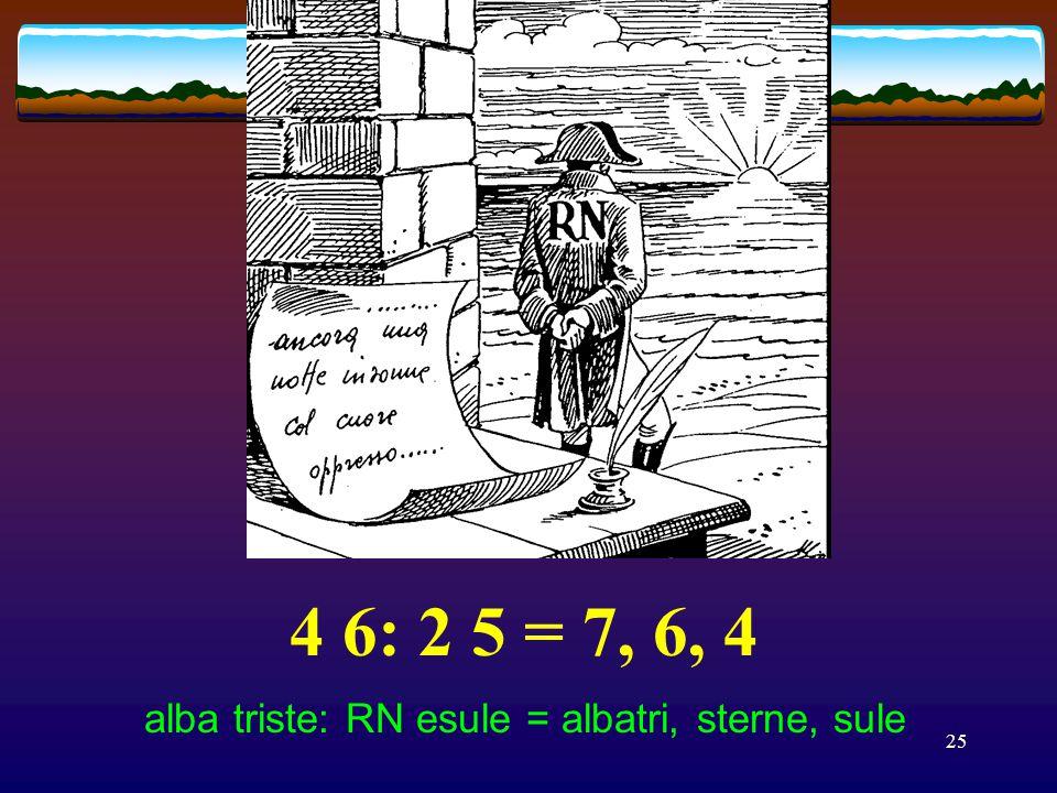 24 2 1 3! 4 1'5 3 = 6 2 7 4 PR è mio! dice l'ebrea SSO = premio di celebre asso