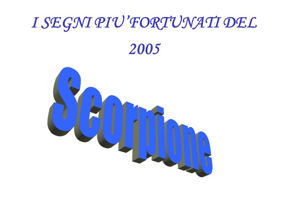 I SEGNI PIU'FORTUNATI DEL 2005