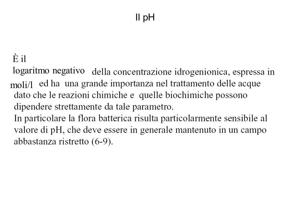 Il pH moli/l È il logaritmo negativo