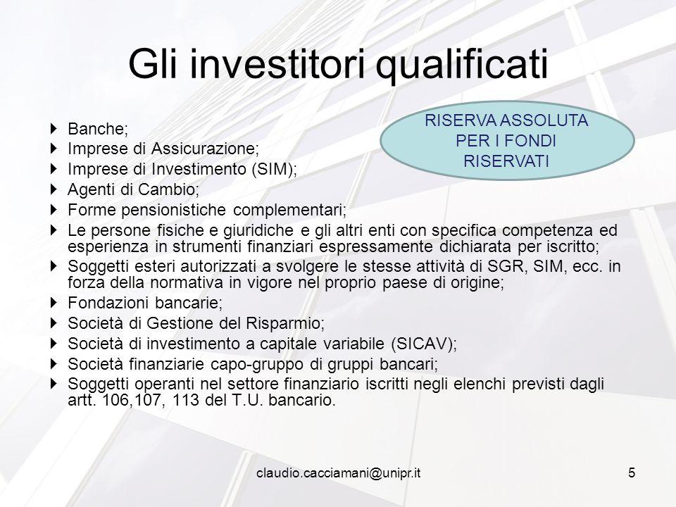 Banche;  Imprese di Assicurazione;  Imprese di Investimento (SIM);  Agenti di Cambio;  Forme pensionistiche complementari;  Le persone fisiche
