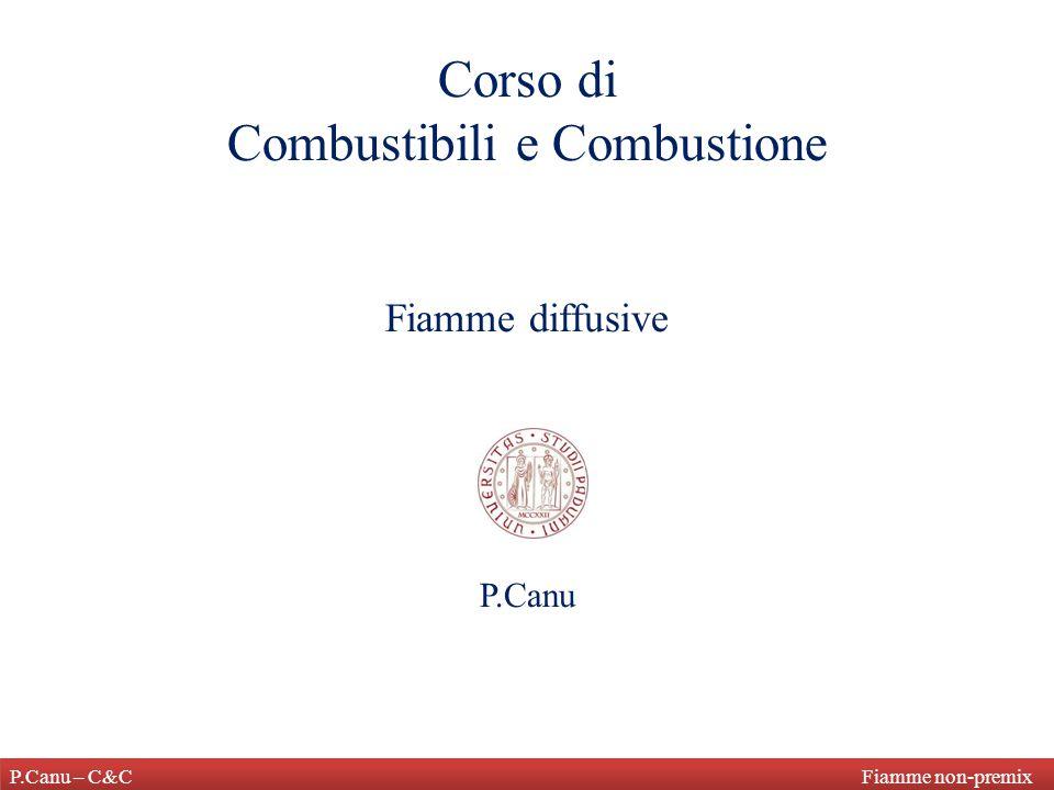 P.Canu – C&C Fiamme non-premix Corso di Combustibili e Combustione Fiamme diffusive P.Canu