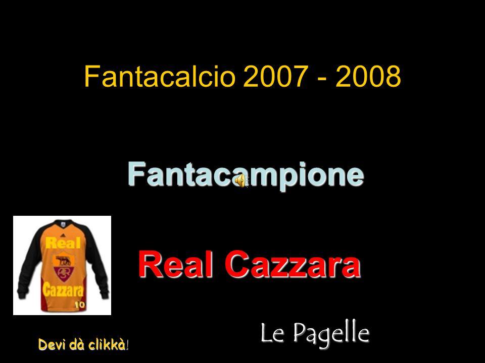 Fantacalcio 2007 - 2008 Fantacampione Real Cazzara Le Pagelle Devi dà clikkà !