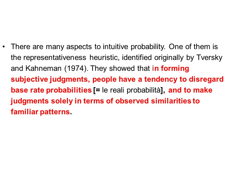 There are many aspects to intuitive probability.
