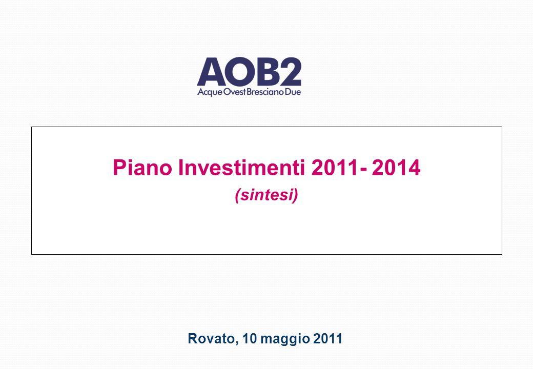 Piano Investimenti 2011- 2014 (sintesi) Rovato, 10 maggio 2011