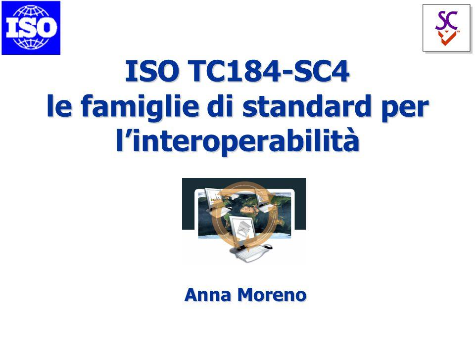 ISO TC184-SC4 le famiglie di standard per l'interoperabilità Anna Moreno