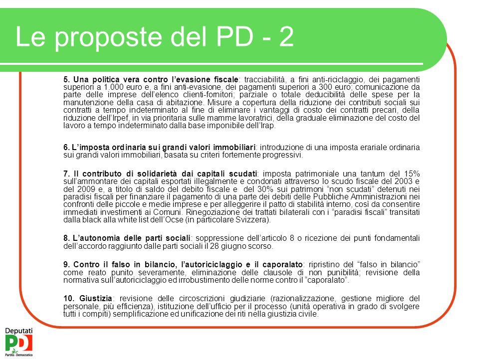 Le proposte del PD - 2 5.