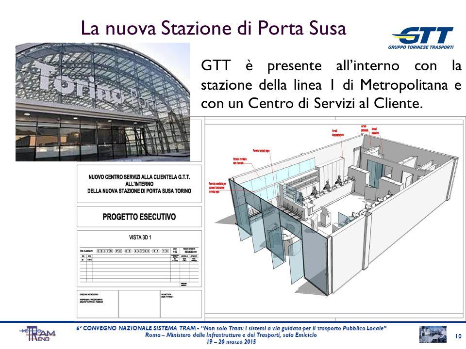 """La nuova Stazione di Porta Susa 10 6° CONVEGNO NAZIONALE SISTEMA TRAM - """"Non solo Tram: I sistemi a via guidata per il trasporto Pubblico Locale"""" Roma"""