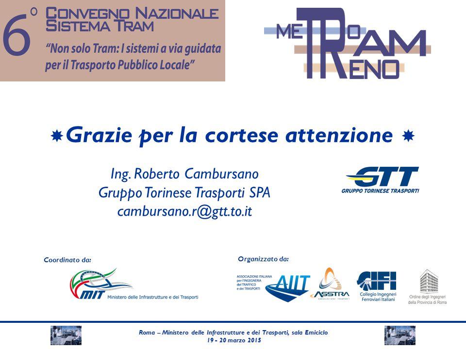 Roma – Ministero delle Infrastrutture e dei Trasporti, sala Emiciclo 19 - 20 marzo 2015 19 - 20 marzo 2015 Coordinato da: Organizzato da:  Grazie per