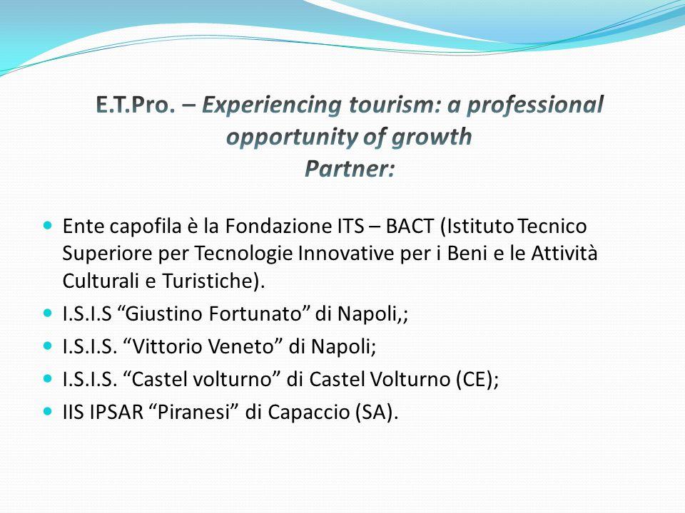 Ente capofila è la Fondazione ITS – BACT (Istituto Tecnico Superiore per Tecnologie Innovative per i Beni e le Attività Culturali e Turistiche).