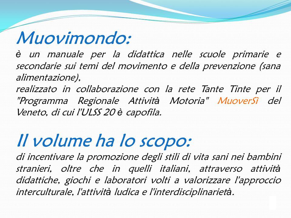 Muovimondo: è un manuale per la didattica nelle scuole primarie e secondarie sui temi del movimento e della prevenzione (sana alimentazione), realizza