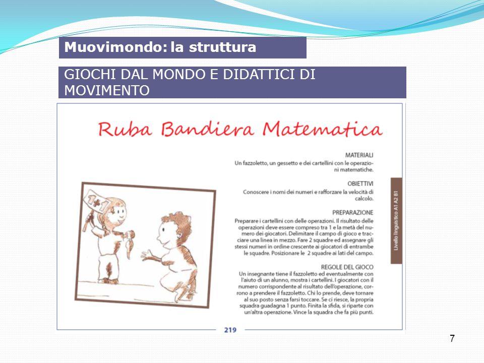 7 Muovimondo: la struttura GIOCHI DAL MONDO E DIDATTICI DI MOVIMENTO