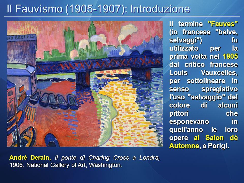 Il Fauvismo (1905-1907): Introduzione Paul Gauguin, Paul Gauguin, Arearea (Giocosità) 1892; Musée d Orsay, Paris Gli artisti della nuova corrente, erano già presente nel panorama della pittura francese da alcuni anni, ma divennero famosi soprattutto a partire dal 1905.