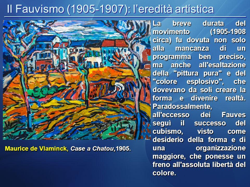 Il Fauvismo (1905-1907): gli esponenti principali La figura più importante del gruppo fauvista fu Henri Matisse che usò colori vividamente contrastanti fin dal principio.