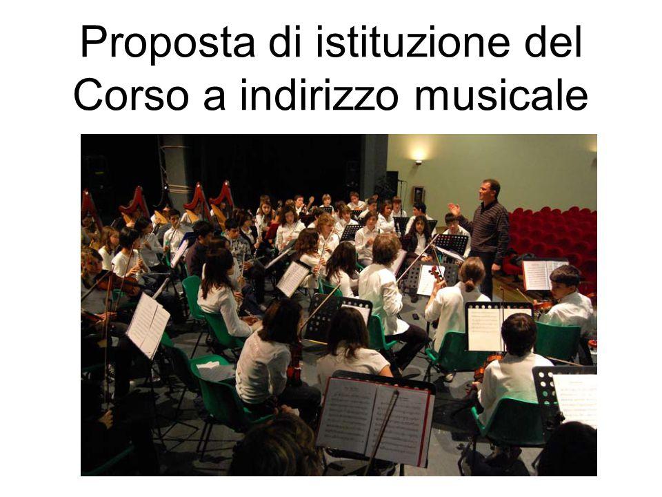 Proposta di istituzione del Corso a indirizzo musicale