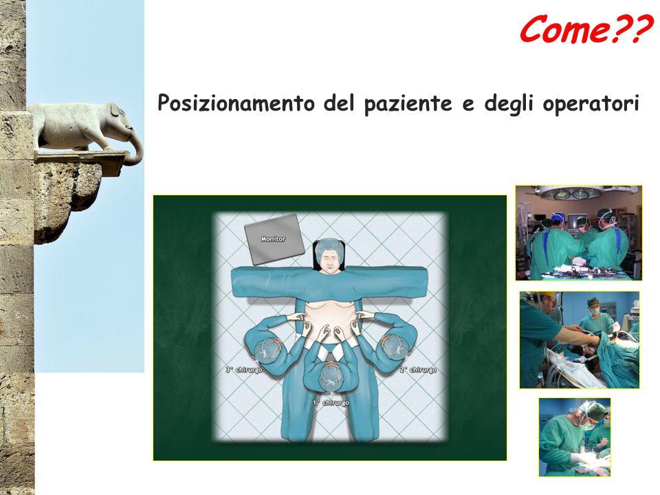 Posizionamento del paziente e degli operatori Come??